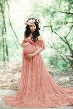 b27b200911e17 CHCDMP جديد أنيقة الدانتيل فستان حمل التصوير الدعائم طويل فساتين الحوامل  ملابس حريمي يتوهم الحمل الصورة