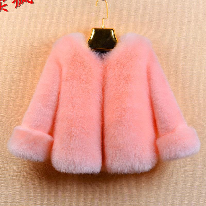 Winter Girls Fur Coat Elegant Baby Girl Faux Fur Jackets And Coats Thick Warm Parka Kids Boutique Clothes girls parka coats 2016 girls faux fur coat winter coat medium long kids girls brand children jackets elegant childrens clothes