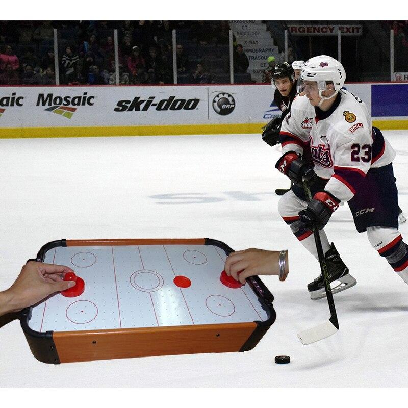 Table de Hockey sur Air en plastique MDF Portable pour divertissement familial fête d'anniversaire cadeaux de noël jouet de Hockey Portable - 3