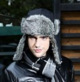 High Quality  2016 Warm Winter Hats With Ears Flaps Women Bomber Hat Russian Version Men's Fur Cap Autumn black russian Earflaps