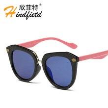 2016 Korean version Children Reflective Sunglasses Anti-UV Boys/girls fashion PC frame Pretty girls glasses