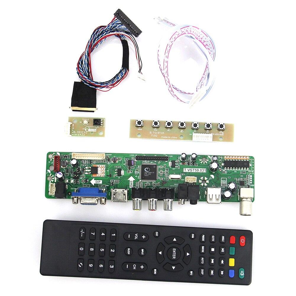 Kit for N101L6-L01 LCD LED Lvds Controller Board 1024x600 HDMI+DVI+VGA