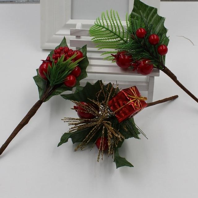 1 Estampa De Flores Artificiales Simulacion Manualidades De Navidad - Manualidades-con-flores-artificiales