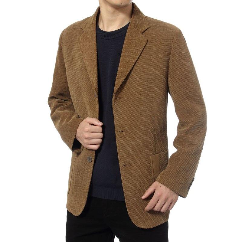 WAEOLSA Homme D'affaires jolie pochette costume pour homme Veste avec Patch Manches Blazers Mâle Plaine Vêtement Pour Homme Rayé costume de velours Manteau