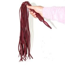 Simulation Leather Whips BDSM Bondage Flogger Choker Adult Babydoll Games Real Cow Sex Couples SM Game Tool