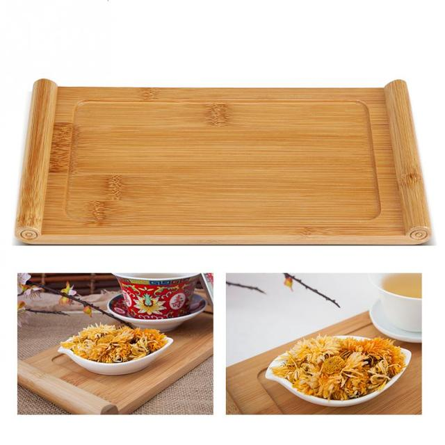Bamboo Tea Tray Dessert Serving Tray