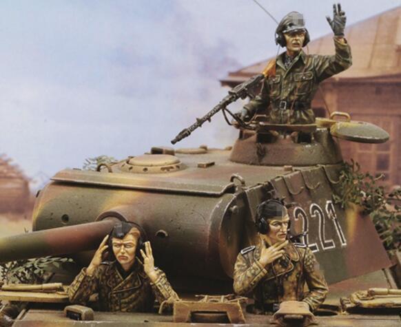 1/35 Смола Наборы Второй мировой войны танк солдат 3 шт./компл. (без майки)