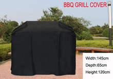 """Universal BBQ Grill Cover,custom Gas Barbecue Grill protective cover,Black color Waterproofed 57''/67""""/75""""(145/170/190cm)"""