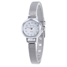 Small Round Dial Women Mesh Stainless Steel Band Quartz Watch Famous Luxury Top Brand Simple Design Ladies Wrist Watches Clock