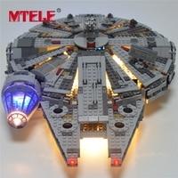 MTELE Led Light Building Blocks Set For Star Wars The Force Awakens Millennium Falcon Model 05007