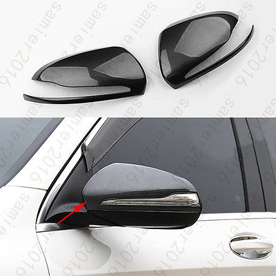 2x Carbon Fiber Rearview Mirror Protector Cover Trim For Benz GLC Class X205 16+