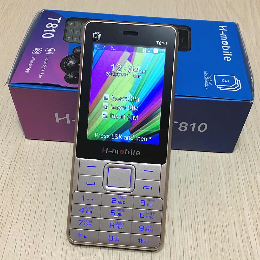 "Three sim T810 phone Russian keyboard key 2.8"" screen gsm ..."
