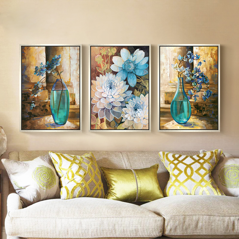 3 panels paintings for bedroom hotel wall decor modern