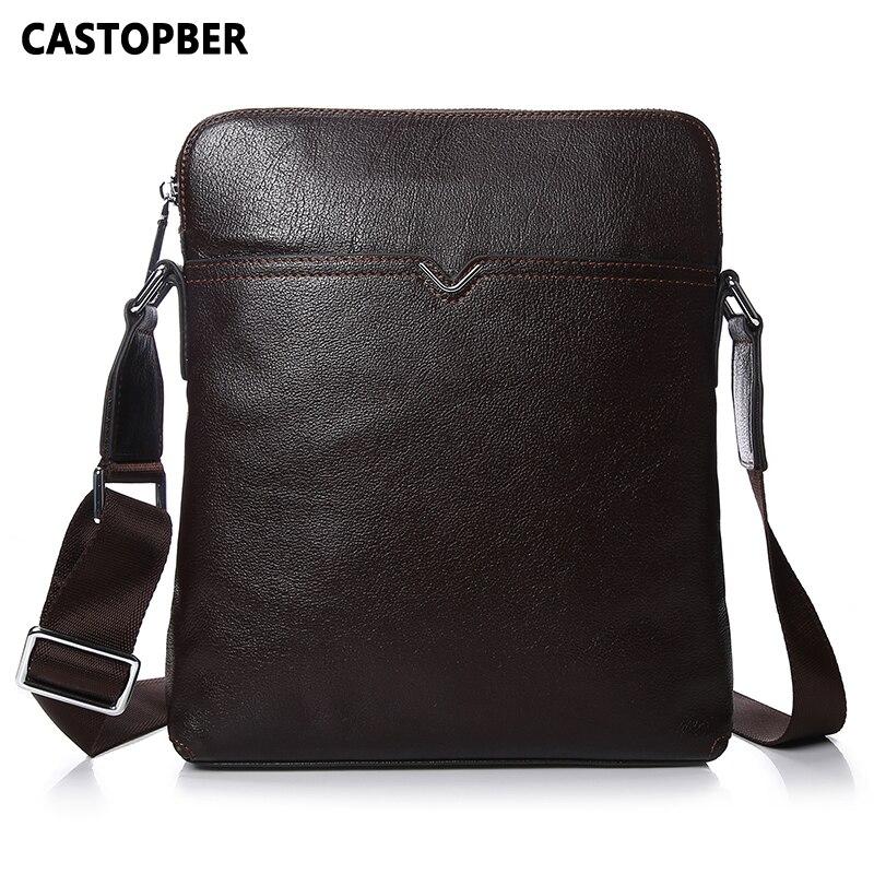 Men Crossbody Bag Messenger Shoulder Handbags Cowhide Genuine Leather Casual Business Satchel Mens Bags For Male