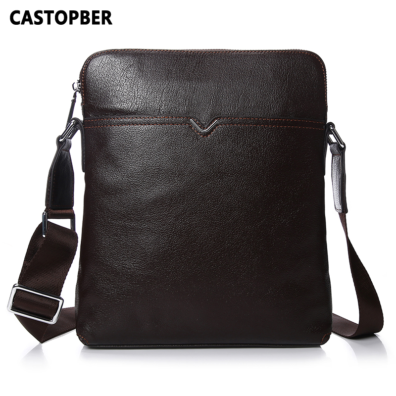 Men Crossbody Bag Messenger Shoulder Handbags Cowhide Genuine Leather Casual Business Satchel Mens Bags For Male High Quality hat prince protective case w call display stand for samsung galaxy note 4 n9100 white