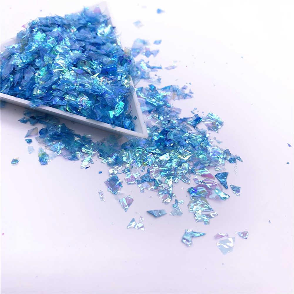 20 г разноцветная ракушка сахар осколки мигает мусора материал УФ-из эпоксидной смолы полимерная форма изготовления ювелирных изделий заполнение DIY игрушки