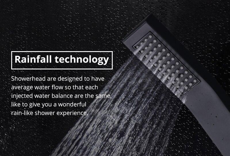 Black Shower Head Hand Shower Bathroom HandHeld Shower Head Partial Bent Brass Hand shower Handheld Balck Showerheads  (1)