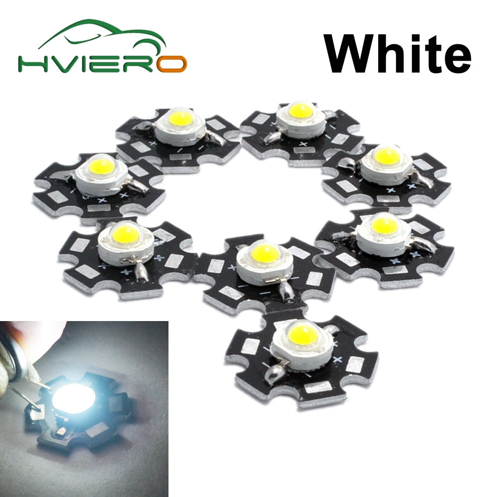 10Pcs 3W High Power Chip white Red Blue Green light Bead Emitter LED Bulb Diodes Lamp Beads with 20mm Star PCB Platine Heatsink