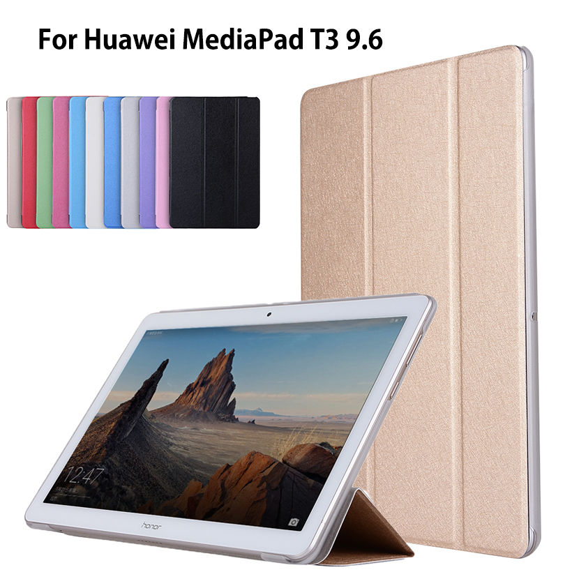 Case For Huawei MediaPad T3 10 AGS-L09 AGS-L03 9.6 inch Cover Funda Tablet PU Leather Flip Folding Folio Stand Shell luxury flip stand case for samsung galaxy tab 3 10 1 p5200 p5210 p5220 tablet 10 1 inch pu leather protective cover for tab3