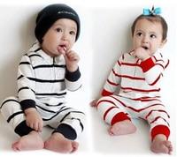 Baby Rompers Stripe 2016 Spring Autumn Boy Girl Hooded Jumpsuit Romper High Quality Brand Newborn Romper