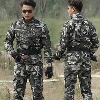 Tactical Army Military Uniform Combat Suits Jacket Pants Camouflage Tactical Working Army Suit Female Sports Sets