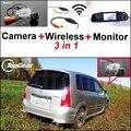 3 in1 Специальный Камера Заднего Вида + Беспроводной Приемник + зеркало Монитор Легко DIY Система Парковки Для Mazda Premacy MK1 1999 ~ 2009