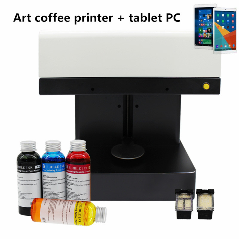 New design quick print Latte Art Foam milked food coffee Printer selfie coffee printer edible ink coffee printing machine coffee and food printer inkjet printer selfie coffee printer full automatic latte coffee printer with 8 inch tablet pc