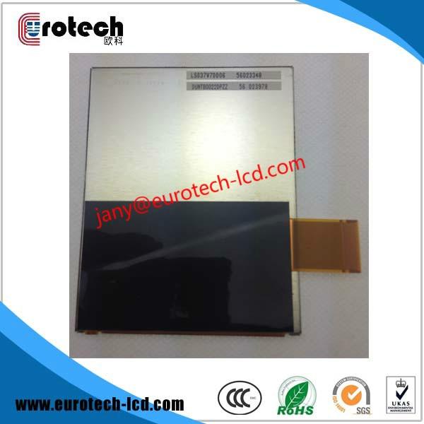 3.7 inch LS037V7DD06 lcd display For Intemec CN30