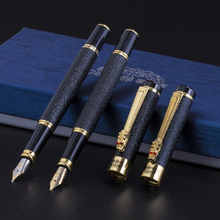 Luxurious High-end Gift Matte black Chinese Golden Dragon iraurita gift Fountain Pen