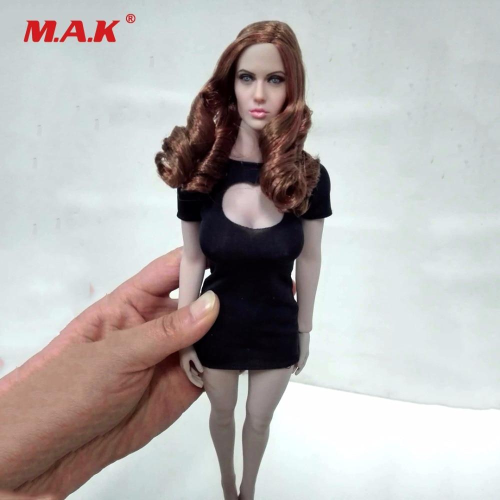 S02A / S09C 1/6 ljestvice ženske sunčane boje tijelo slika super-fleksibilna bešavne figure s nehrđajućeg čelika za PH lutke slika