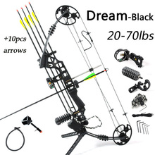 Hunting bow & arrow set right hand compound bow with arrows and Bow Accessoiry Super alloy handle bow archery for hunting