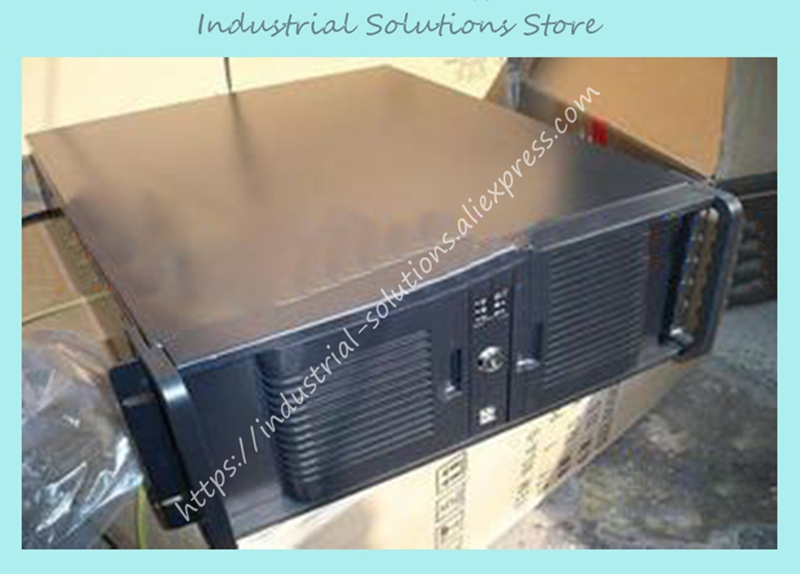 New Double Door 4U Server Computer Case 4U Industrial Computer Case Double Plate 4 new ultra short 4u computer case 380mm aluminum panel full open door double server large panel industrial computer case