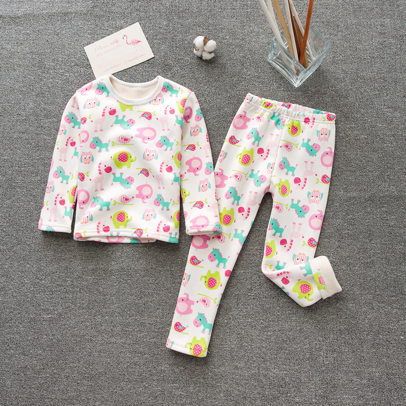 ca3ba6f77968 Winter Children Pajamas For Girls Fleece Boys Sleepwear Cartoon Kids ...
