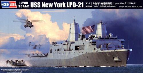 Hobbyboss modèle 83415 1/700 USS New York LPD-21 kit de modèle en plastique