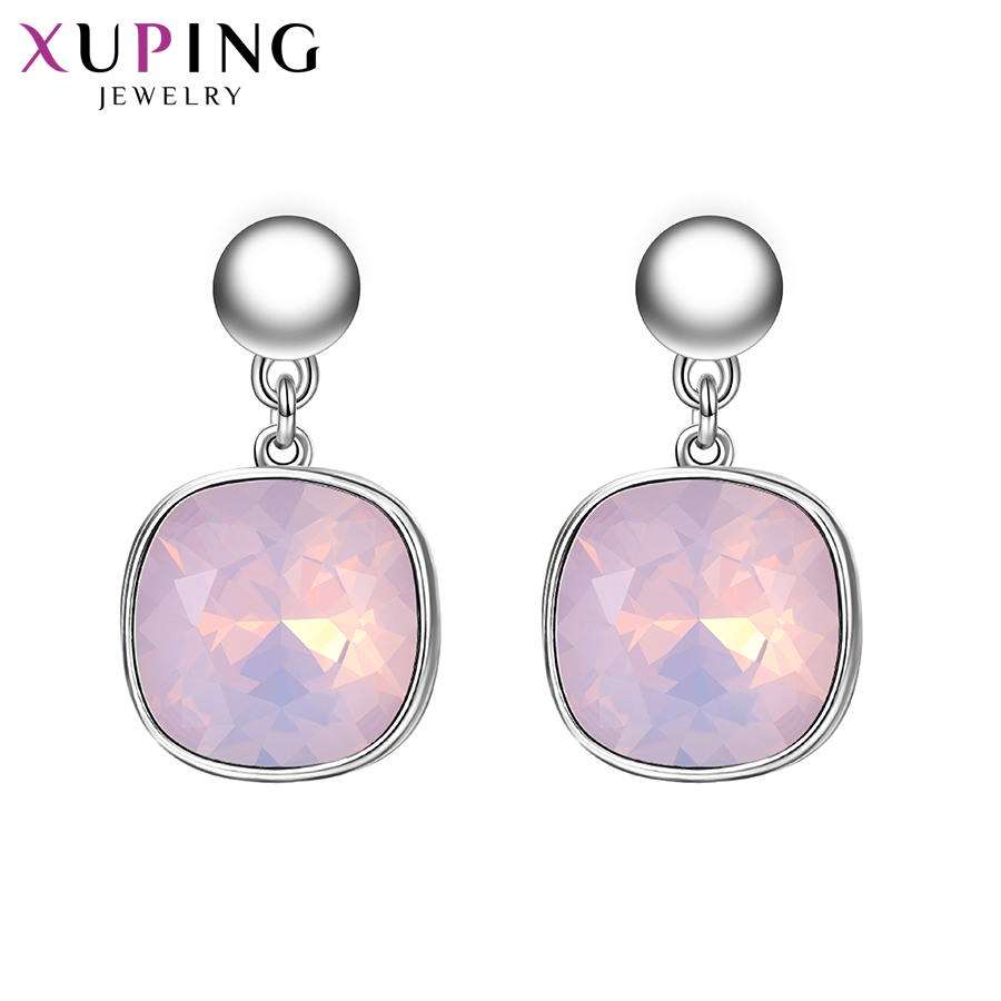 HTB1y1B6XzvuK1Rjy0Faq6x2aVXaO - Xuping Square Earrings Crystals from Swarovski Luxury Vintage Style Jewellery Women Girl  Valentine's Day Gifts M94-20493