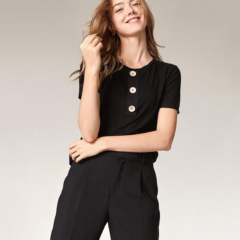 ESCALIER Sommer Kvinder Casual Shirt Fashion Tops Tees Rayon Button - Dametøj - Foto 5