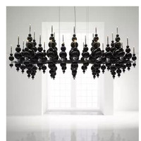 L Postmodern Nordic Italy black and white classic ball model showroom designer living room dining room art gallery chandelier