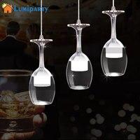 LumiParty Neue LED Wein Glas Anhänger Lampen 3W Weiß/Warmes licht anhänger led lampen led lustre anhänger lichter kaffee Bars Häuser-in Pendelleuchten aus Licht & Beleuchtung bei