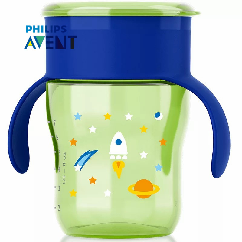 Avent 260ml 9oz Bpa Free Cartoon Toddler Sippy Cups Water