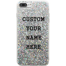 Personalized Custom Name Text Glitter Phone Cases For Iphone Xs Max