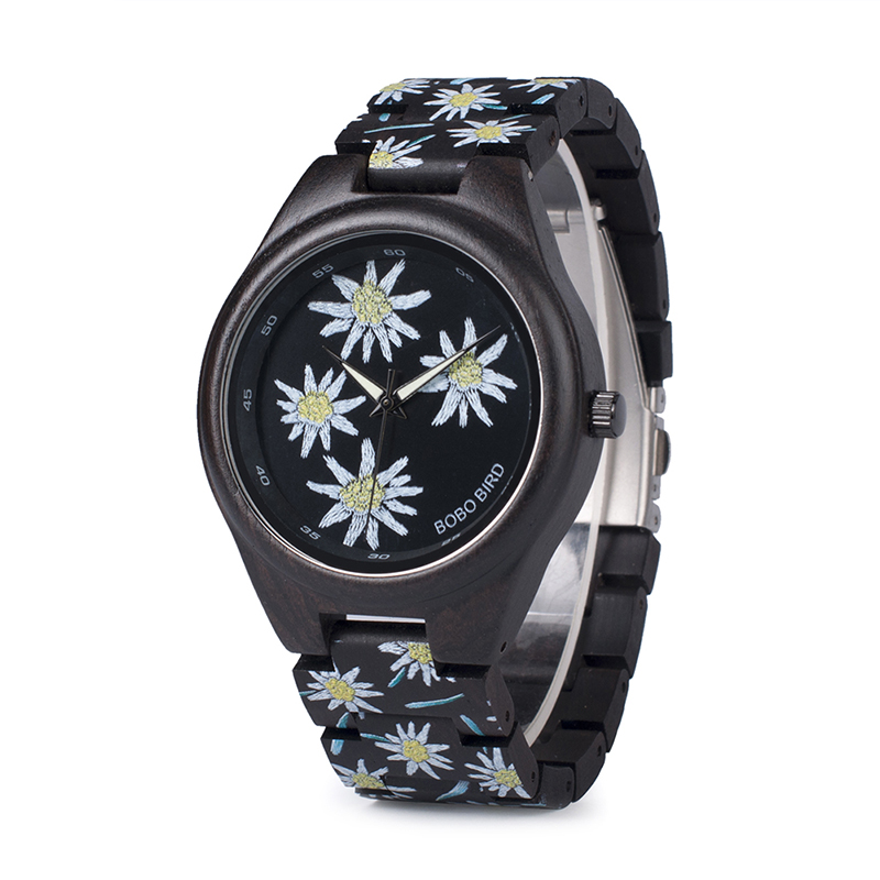 BOBO BIRD Ebony Watch Men Features Embroidery Quartz Wristwatch for Women Accept Drop Shipping relogio feminino B-P06BOBO BIRD Ebony Watch Men Features Embroidery Quartz Wristwatch for Women Accept Drop Shipping relogio feminino B-P06