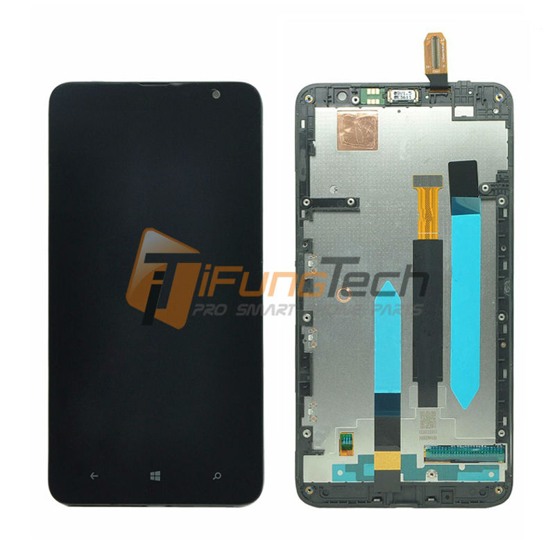 20 Piece Free Shipping Tested LCD Display For Nokia Lumia 1320 With Touch Screen Digitizer + Frame Black High Quality