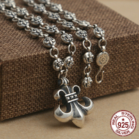 100% S925 sterling silver men's necklace personality fashion retro jewelry domineering punk style anchor shape send lover's gift