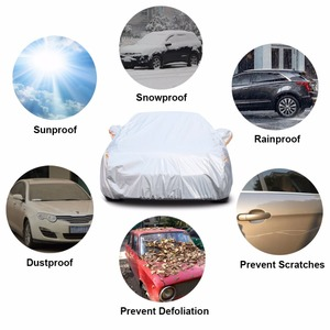 Image 3 - Kayme Multi Layer Full Car Cover Waterproof All Weather With Zipper Cotton, Outdoor Rain Snow Sun uv Protection Fit Sedan Suv