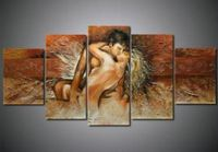 handpainted 5p modern abstract sexy nude lover oil painting canvas art no framed