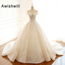 Awishwill Arabic Lace Wedding Dresses Off The Shoulder
