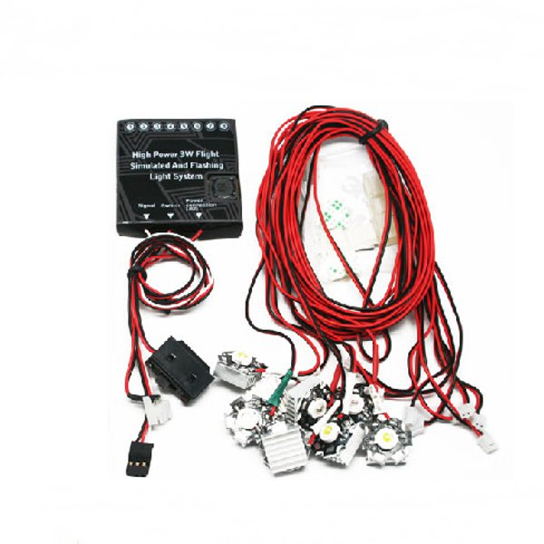 G.T.Power High Power 3W Flight Simulated And Flashing Light System For RC Airplane