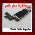 100% original & desbloqueado para iphone 4 mainboard, 16g para iphone 4 motherboard com batatas fritas, para iphone 4g motherboards frete grátis