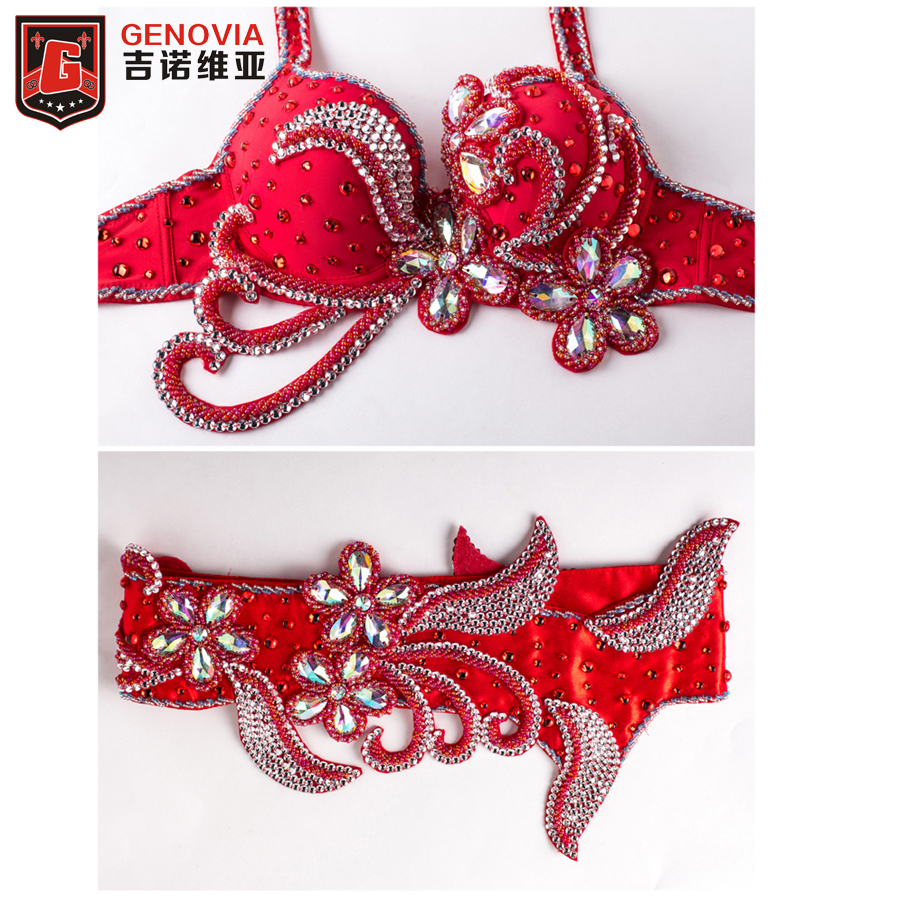 Luxury Belly Dancing Egyptian Costumes Oriental Style Rhinestone 2 Pcs Bra&belt 34b/c 36b/c 38b/c Performance Belly Dance Set