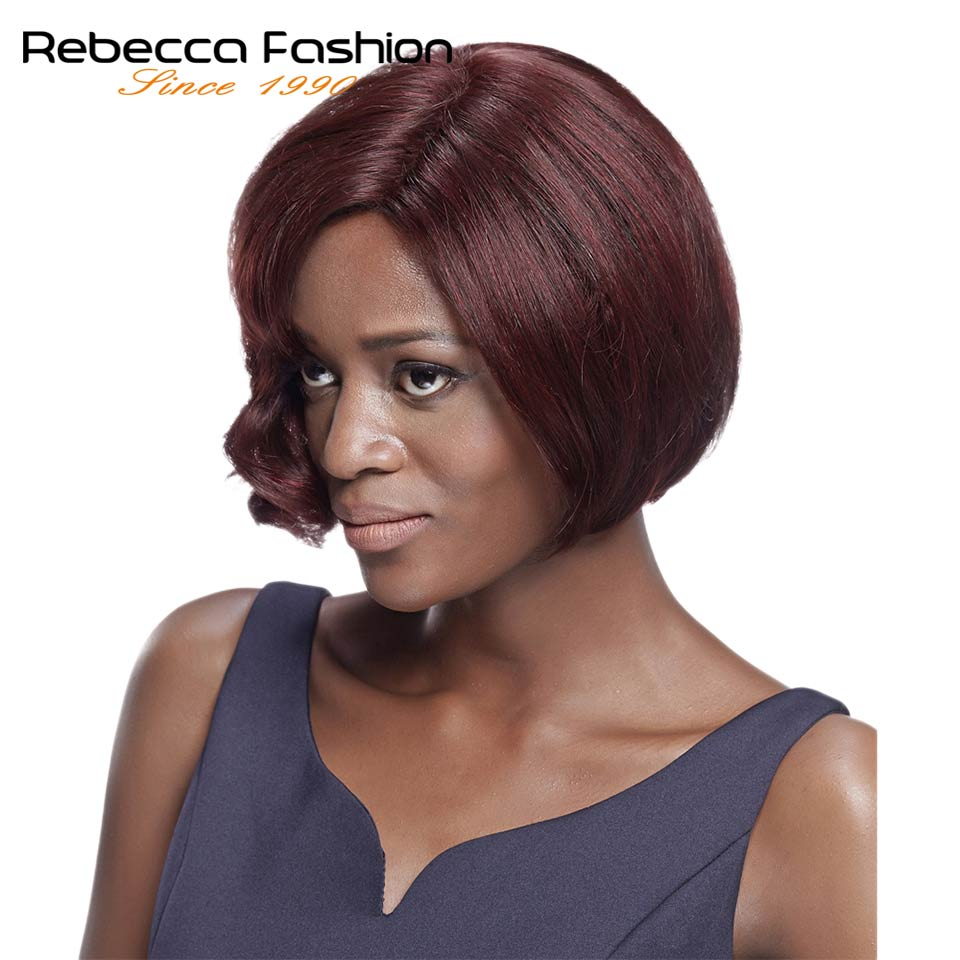 Rebecca Human Hair Wigs Brazilian Short Bob Wigs Human Hair 99J Cheap Remy Short Human Hair Wigs For Black Women Fashion Wigs